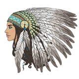 Menina do nativo americano ilustração do vetor
