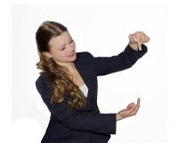 A menina do negócio Imagens de Stock Royalty Free