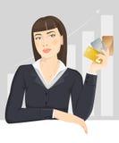 Menina do negócio com cartões de crédito Foto de Stock Royalty Free