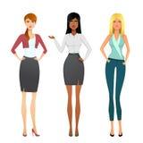 Menina do negócio Menina de escritório bonita Fotografia de Stock Royalty Free