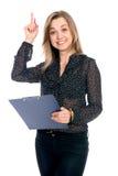 Menina do negócio que tem uma boa ideia Fotos de Stock Royalty Free