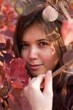 Menina do outono Imagens de Stock