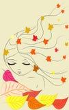 Menina do outono ilustração stock