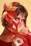 Menina do outono Imagem de Stock Royalty Free