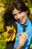 Menina do outono Fotografia de Stock