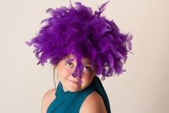 Menina do palhaço Fotografia de Stock