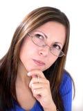 A menina do pensador Imagem de Stock