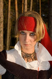 Menina do pirata Foto de Stock Royalty Free