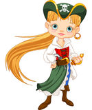 Menina do pirata Foto de Stock