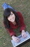 Menina do portátil Imagens de Stock