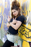 Menina do punk foto de stock royalty free