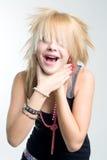 Menina do punk que bloqueia-se Fotos de Stock Royalty Free
