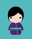 Menina do quimono Fotos de Stock