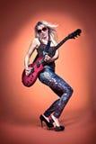 Menina do rock and roll Fotos de Stock