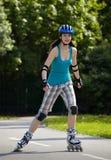 Menina do Rollerblade I. Imagens de Stock Royalty Free