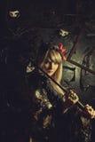 Menina do samurai Foto de Stock Royalty Free