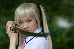 Menina do samurai Imagem de Stock