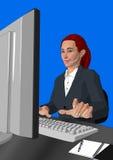 Menina do serviço de atenção a o cliente Fotografia de Stock Royalty Free