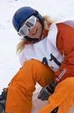 Menina do Snowboard Fotos de Stock Royalty Free