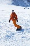Menina do Snowboard Fotografia de Stock