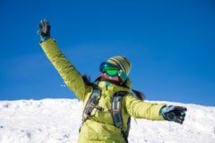 Menina do Snowboarder Imagens de Stock Royalty Free