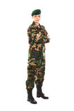 Menina do soldado no uniforme militar Fotos de Stock