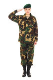 Menina do soldado no uniforme militar Fotografia de Stock Royalty Free