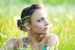 Menina do sonhador Fotografia de Stock Royalty Free