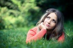 Menina do sonhador Fotografia de Stock
