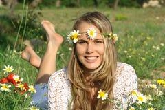 menina do sorriso Imagens de Stock
