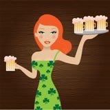 Menina do St. Patricks Imagens de Stock