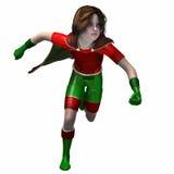 Menina 5 do super-herói Fotografia de Stock