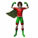 Menina 3 do super-herói Foto de Stock