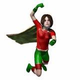 Menina 2 do super-herói Fotografia de Stock Royalty Free