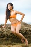 Menina do Swimwear Fotografia de Stock
