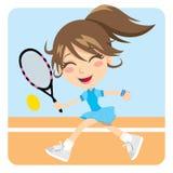 Menina do tênis ilustração stock