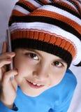 Menina do telefone Imagens de Stock Royalty Free