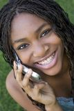 Menina do telefone foto de stock royalty free