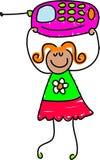 Menina do telefone móvel ilustração stock