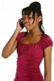 Menina do telemóvel Imagens de Stock