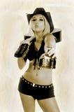 Menina do Tequila do vintage Imagens de Stock