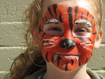 Menina do tigre Foto de Stock Royalty Free