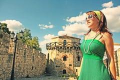 Menina do turista Fotografia de Stock Royalty Free