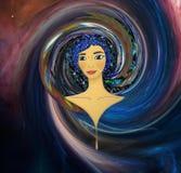 Menina do universo ilustração do vetor