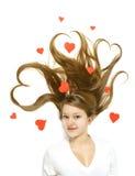 Menina do Valentim Fotos de Stock