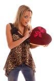 Menina do Valentim fotografia de stock