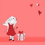 Menina do Valentim Fotos de Stock Royalty Free