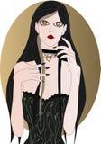 Menina do vampiro Fotos de Stock Royalty Free
