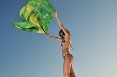 Menina do vento Fotos de Stock Royalty Free