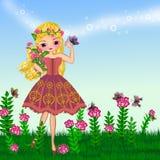Menina do verão ilustração do vetor
